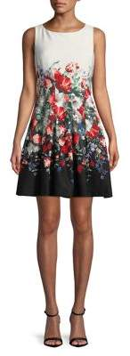 Eliza J Petite Sleeveless Floral Printed Dress