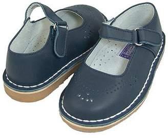 IM Link Toddler Little Girls Navy Mary Jane Eyelet Design Velcro Shoe Size 5-4