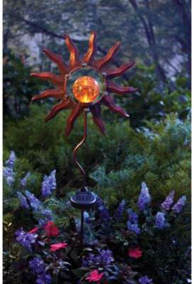 Bed Bath & Beyond Burnished Sun Solar Garden Stake