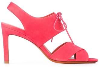 Santoni lace-up detail sandals