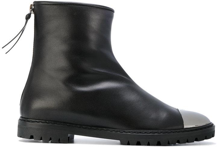 Giuseppe Zanotti Design metallic toe ankle boots