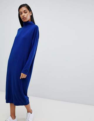 Asos DESIGN midi sweater dress with roll neck