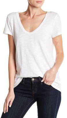 Susina Solid Scoop Neck Tee (Petite Sizes Available)