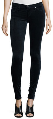 AG The Legging Velvet Skinny Jeans, Blue Night $198 thestylecure.com
