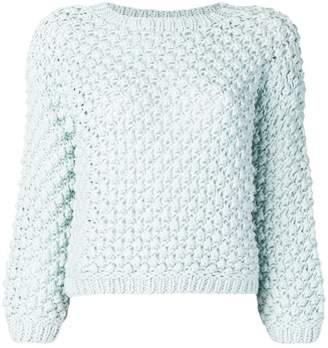 Elisabetta Franchi open knit jumper