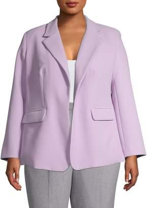 Vince Camuto Plus Long Sleeve Crepe Jacket