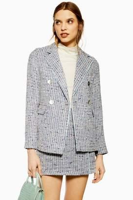 Topshop Womens Button Boucle Jacket