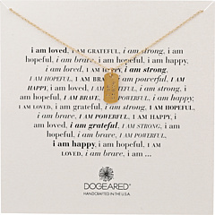 Dogeared I Am Brave Small Dogtag Necklace