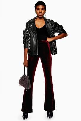 Topshop Velvet Flares Trousers