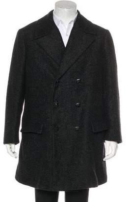 Bottega Veneta Wool & Alpaca Double-Breasted Coat