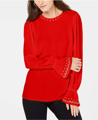 Michael Kors Studded Bell-Sleeve Top, In Regular & Petite Sizes
