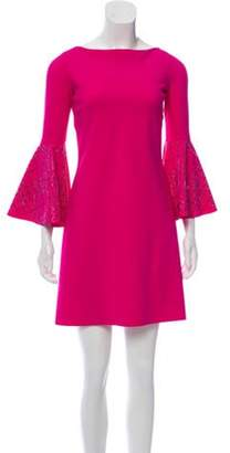 Chiara Boni Bell Sleeve Shift Dress w/ Tags Fuchsia Bell Sleeve Shift Dress w/ Tags