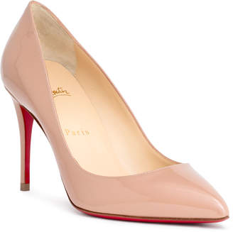 Christian Louboutin Pigalle Follies 85 beige patent pumps