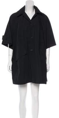 Prada Hooded Dolman Sleeve Coat