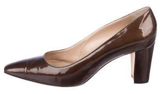 Manolo Blahnik Square-Toe Patent Leather Pumps