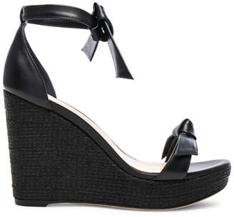 Alexandre Birman Leather Clarita 100 Platform Wedges