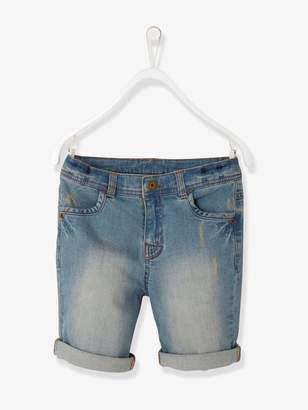 Vertbaudet Boys' Denim Bermuda Shorts