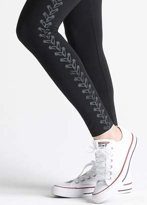 Yummie Signature Waistband Legging with Gunmetal Foil Placement Print