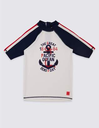 Marks and Spencer Rash Vest with Sun Safe UPF50+ (3-16 Years)