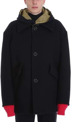 Raf Simons Caban Black Wool Jacket