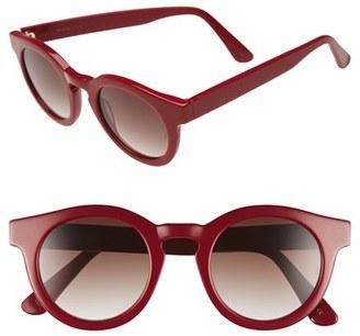 SUNDAY SOMEWHERE 'Soelae' 46mm Round Sunglasses $270 thestylecure.com