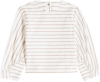 Tibi Sateen Stripe Top