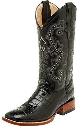 Ferrini Men's Print Belly Alligator S-Toe Western Boot