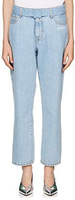 Off-White Women's Belted Crop Jeans