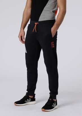 Emporio Armani Ea7 Cotton Jogging Pants With Contrasting Logo