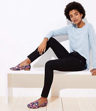 LOFT Petite Modern Straight Leg Jeans in Black