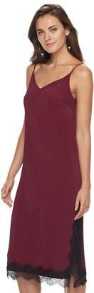 Apt. 9 Women's Ribbed Lace Slip Dress