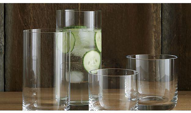Crate & Barrel Crescent 16 oz. Cooler Glass