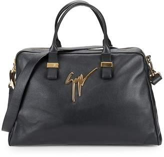 Giuseppe Zanotti Textured Leather Overnight Bag