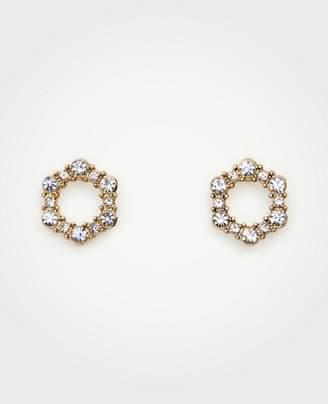 Ann Taylor Hexagon Pave Stud Earrings