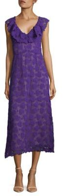 Macrame Cotton and Silk Midi Dress