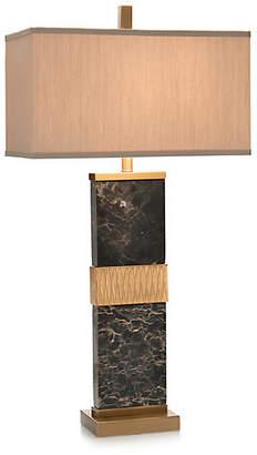 John-Richard Collection John Richard Column Marble Table Lamp - Brass/Black