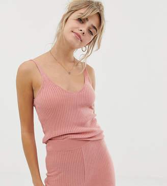 Asos Design DESIGN mix & match lounge knitted rib cami