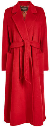 Etro Belted Coat in Wool and Mohair