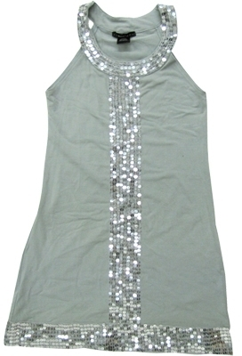 **SALE**Flowers By Zoe - Kid's Grey Sequins Tank Dress