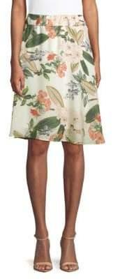 philosophy Floral Flared Skirt
