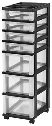 IRIS 7-Drawer Rolling Storage Cart with Organizer Top