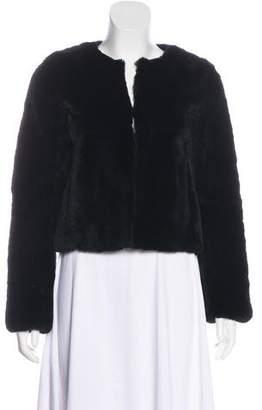 Theory Fur Collarless Jacket