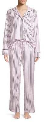 Lord & Taylor Two-Piece Printed Cotton Pajama Set