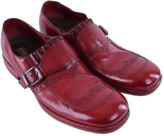 Dolce & Gabbana Red Leather Flats