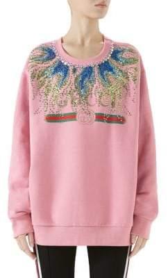 Gucci Crystal Flame Logo Sweatshirt