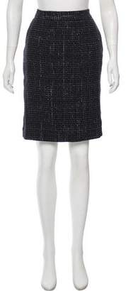 Theyskens' Theory Tweed Knee- Length Skirt