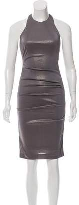 Nicole Miller Ruched Metallic-Effect Dress w/ Tags