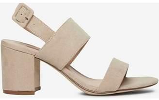 Dorothy Perkins Womens Taupe 'Sadie' Block Heel Sandals