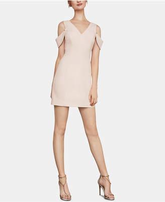 BCBGMAXAZRIA Eve Cold-Shoulder Crepe Sheath Dress