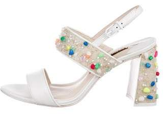 Sophia Webster Beaded Ankle Strap Sandals